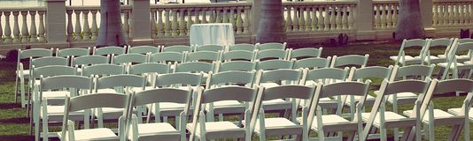 Wedding Guest Seating Stock Photo