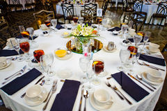 Wedding guest table Royalty Free Stock Image
