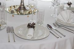 Wedding guest table decorations 5 Royalty Free Stock Photo
