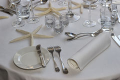 Wedding guest table decorations 2 Stock Image