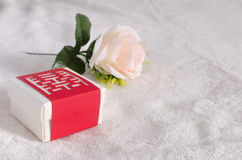 Wedding guests gave candy box Royalty Free Stock Image
