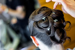 Wedding hair style Stock Images
