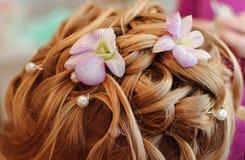 Wedding hairstyle stock photo