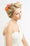 Wedding hairstyle Royalty Free Stock Photos