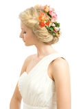 Wedding hairstyle Royalty Free Stock Photo