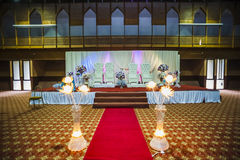 Wedding hall decoration Royalty Free Stock Photos