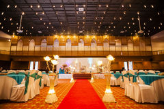 Wedding hall decoration Stock Image