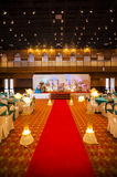 Wedding hall decoration Stock Photography
