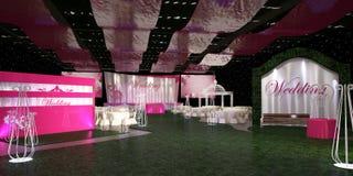Wedding hall Royalty Free Stock Photos