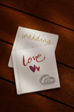 Wedding hand book Royalty Free Stock Photo