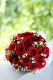Wedding hand bouquet. Nosegay of rose in a wedding Royalty Free Stock Photo