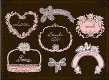 Wedding hand drawn graphic set. Stock Image