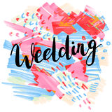 Wedding, hand-drawn labels for greeting cards, Royalty Free Stock Image