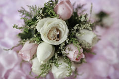 Wedding hand flower with ring Royalty Free Stock Photo