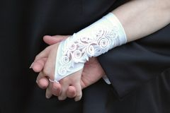 Wedding Hand in Hand Lizenzfreies Stockfoto