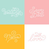 Wedding hand-lettering Royalty Free Stock Photography