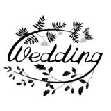 WEDDING HAND LETTERING stock illustration