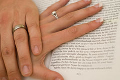 Wedding hands Stock Photos
