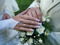 Wedding_hands Photographie stock