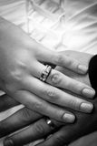 Wedding hands Stock Photo