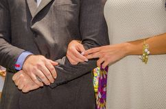 Wedding, Hands and  ring Royalty Free Stock Image