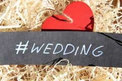 Wedding.Handwritten phrase. Royalty Free Stock Image