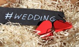 Wedding.Handwritten phrase. Royalty Free Stock Photo
