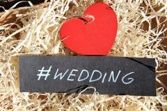 Wedding.Handwritten phrase. Stock Photos