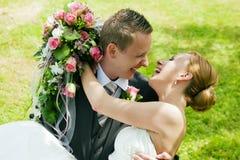 Wedding - happy couple Stock Photos
