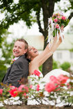 Wedding - happy couple Royalty Free Stock Photography