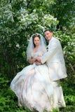 Wedding.Happy couple Royalty Free Stock Images
