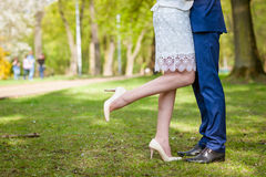 Wedding happy couple Stock Image