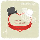 Wedding hat Royalty Free Stock Images