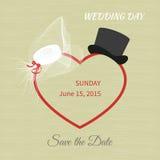 Wedding hat Stock Images