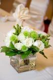 Wedding Haupttabellen-Mittelstück-Nahaufnahme Stockfotos