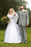 Wedding health. Wedding pair drinking a health Stock Photo