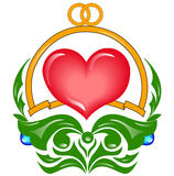 Wedding heart Royalty Free Stock Photography