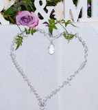 Wedding heart decoration Stock Photo
