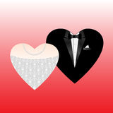 Wedding hearts Stock Photography