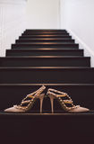 Wedding Heels/Shoes on Stairs Stock Photography