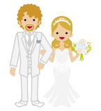 Wedding -Heterosexual Couple -Blond hair Stock Photos