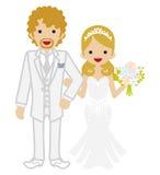 Wedding -Heterosexual Couple -Blond hair. Wedding couple Blond hair Stock Photos