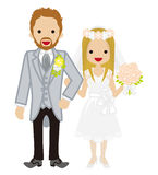 Wedding -Heterosexual Couple -garland Bale Bride-EPS10 Stock Photography