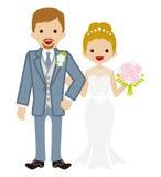 Wedding -Heterosexual Couple -Updo hair Bride Stock Photography