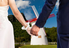 Wedding at hill mountain Stock Photography