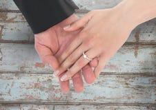 Wedding holding hands Royalty Free Stock Photo