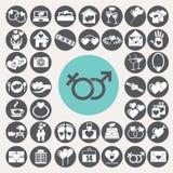 Wedding and honeymoon icons set. Illustration eps10 stock illustration