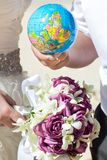 Wedding and honeymoon. In tropical country Stock Photography