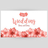 Wedding horizontal banner or website header design with pink japanese cherry blossom Royalty Free Stock Photography