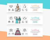 Wedding Horizontal Banners Royalty Free Stock Photos